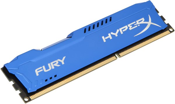 Fotoja e Memorie operative Kingston HyperX Fury, 1x8GB DDR3, 1866MHz, e kaltër