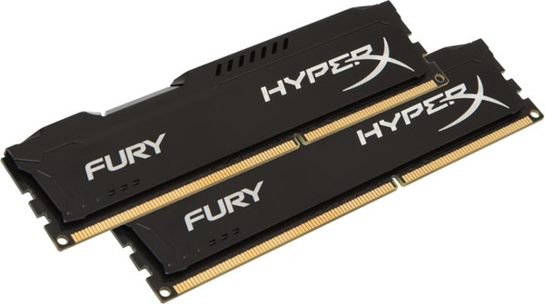 Fotoja e Memorie operative Kingston HyperX Fury, 2x8GB DDR4, 2666MHz, e zezë