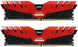 Fotoja e Memorie operative RAM Team T-FORCE Dark ROG 16GB (2x8GB) DDR4 3000, e kuqe