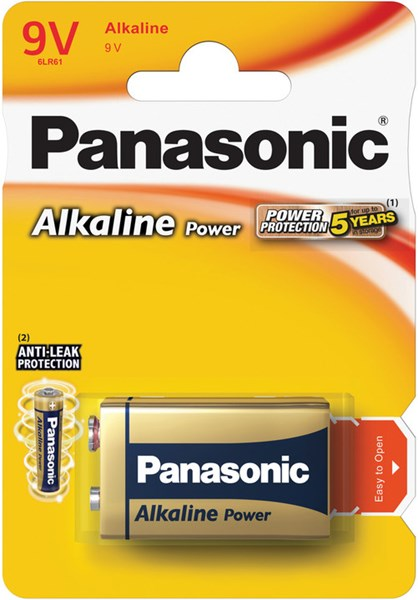 Fotoja e Bateri Panasonic 6LR61 1BP 9V Alk Power